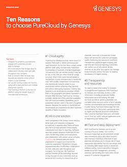 executive-brief-ten-reasons-to-choose-purecloud-by-genesys
