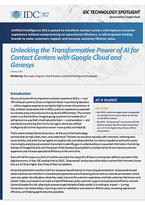idc-spotlight:-unlocking-the-transformative-power-of-ai-for-contact-centers-with-google-cloud-and-genesys