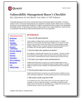 vulnerability-management-buyers-checklist